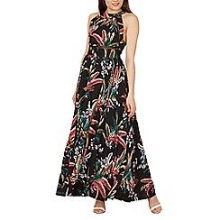 Izabel London - Multicoloured nature print maxi dress