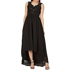 Izabel London - Black embellished neck line occasion dress