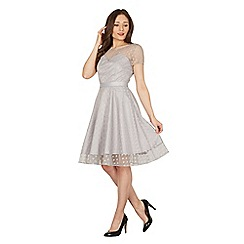 Lindy Bop - Grey Abbie swing dress