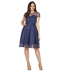 Lindy Bop - Dark blue Abbie swing dress