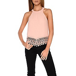 Alice & You - Light pink sleeveless printed top