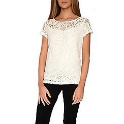 Alice & You - Cream lace t-shirt