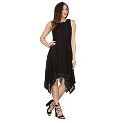 Izabel London - Black crotchet detail layered dress