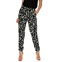 Alice & You - Black printed trousers