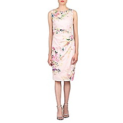 Jolie Moi - Pink retro floral print cotton dress