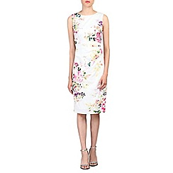 Jolie Moi - White retro floral print cotton dress