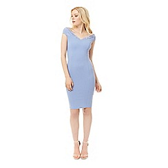 Jane Norman - Light blue lace trim Bardot dress