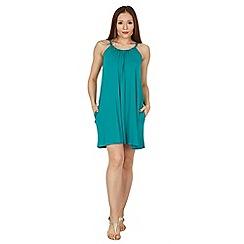 Apricot - Green strappy jersey dress
