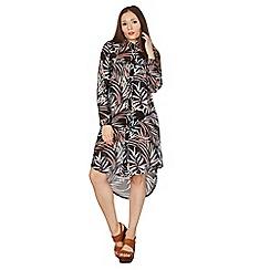 Apricot - Aqua print shirt dress