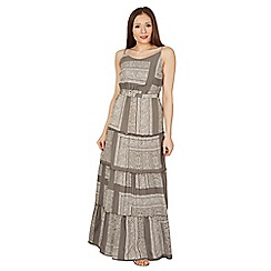 Apricot - Khaki print maxi dress
