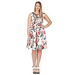 Samya - White print skater dress