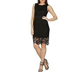 Izabel London - Black round neck lace dress