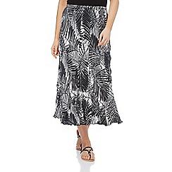 Roman Originals - Black palm print skirt