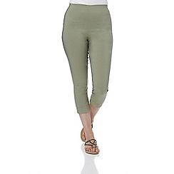 Roman Originals - Khaki bengaline crop trousers