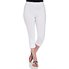 Roman Originals - White bengaline crop trousers