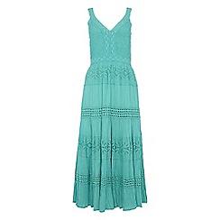 Roman Originals - Turquoise shirred panelled dress