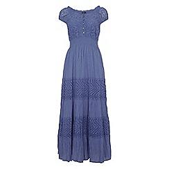 Roman Originals - Light blue lace detail panel dress