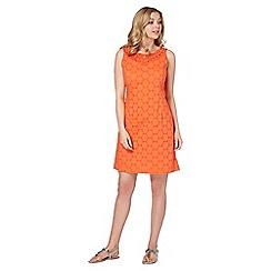 Roman Originals - Orange beaded schiffli dress