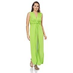Roman Originals - Lime drape front maxi dress