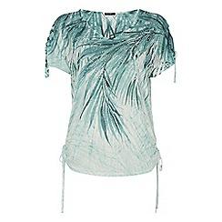 Roman Originals - Green palm print burnout t-shirt
