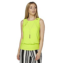 Roman Originals - Lime necklace detail top