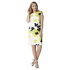 Roman Originals - Lime contrast floral dress