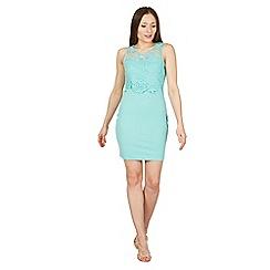 Tenki - Light green sleeveless lace bodycon dress