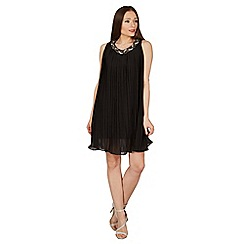 Solo - Black chiffon evening dress
