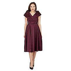 Lindy Bop - Purple amber swing dress