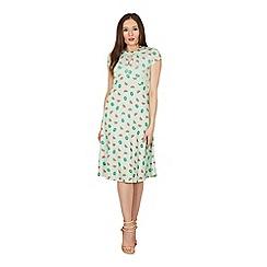 Lindy Bop - Green juliet watermelon tea dress