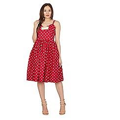 Lindy Bop - Red misty polka swing dress
