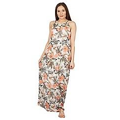 Tenki - White flower print maxi dress