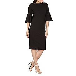 Feverfish - Black flared sleeves bodycon dress