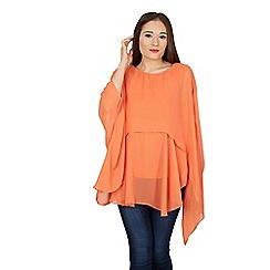 Feverfish - Orange silky chiffon tunic