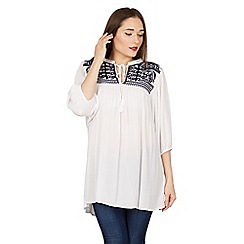 Blue Vanilla - White mirror embroidery tunic