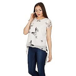 Izabel London - White butterfly print t-shirt top
