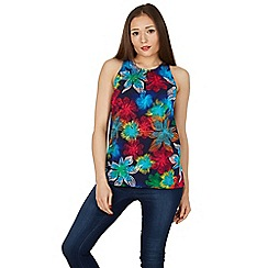 Izabel London - Blue absract floral print top