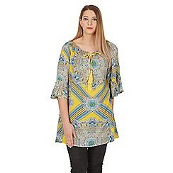 Samya - Yellow abstract print tunic top