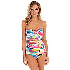 Seaspray - Multicoloured Genevieve paintbox bandeau swimsuit