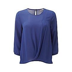 Lavitta - Blue pleat front blouse