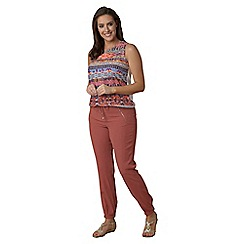 Lavitta - Red crinkle joggers