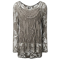 Lavitta - Taupe long sleeves top with camisole