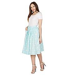 Lindy Bop - Light green adalene polka swing skirt