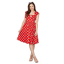 Lindy Bop - Red polka swing dress
