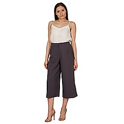 Izabel London - Dark grey wide leg pants with pockets