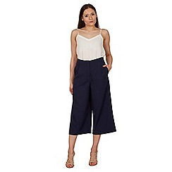 Izabel London - Navy wide leg pants with pockets