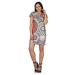 Izabel London - Multicoloured psychedelic print shift dress