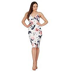 Izabel London - Multicoloured v plunge strappy dress