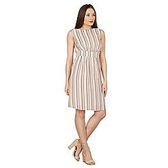 Apricot - Pink vertical stripe print dress