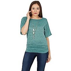 Apricot - Aqua batwing necklace top